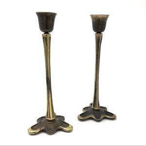 1984 Brass Candlesticks by artist Scott B Nelles